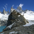 Fitz Roy, Laguna de los tres and Laguna Sucia — Stock Photo