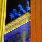 Closeup of the Brandenburger Tor Berlin — Stock Photo