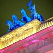 Quadriga on the Brandenburger Tor at nig — Stock Photo