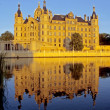 Schwerin Castle in the evening — Stock Photo