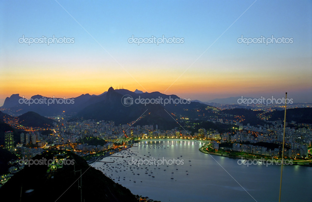 Rio shortly after a beautiful sunset — Stock Photo #3106794