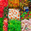 Assortment of Candy at La Boqueria — Foto de Stock