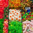 Assortment of Candy at La Boqueria — Stockfoto