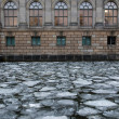Icy River Spree - Stock Photo