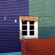 Colourful wall with window in La Boca - Foto Stock