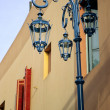 Street light and windows on Caminito - Stock Photo