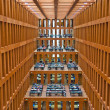 Reading room of Berlin´s newest library - Stock Photo