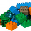 A pile of plastic toy bricks - Stock Photo