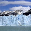glacier perito moreno with mountain rang — Stock Photo