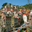Riomaggiore in the Cinque terre - Stock Photo