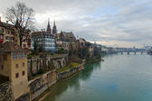Basel, Switzerland: Panorama of city and — Stock Photo