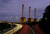 Powerstation and Motorway — Stock Photo