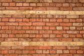 A wall of red bricks — Stock Photo