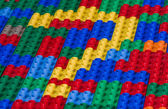 Questionmark from toy bricks — Stock Photo