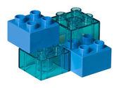 Blue toy bricks — Stock Photo