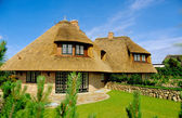 House with thatched roof (Sylt) — Foto Stock