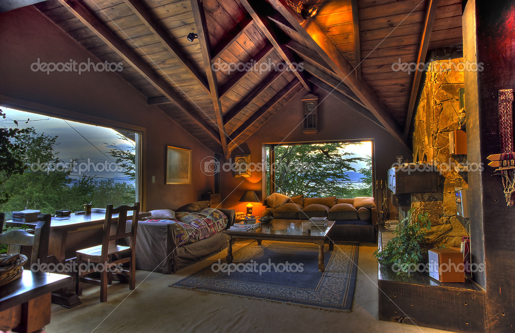 A Cosy Livingroom in Patagonia, HDR-technic  Stock Photo #3116143