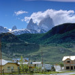 Stock Photo: El Chalten and Fitz Roy