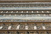 Linha férrea paralela — Fotografia Stock
