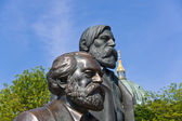 Statue of Karl Marx and Friedrich Engels — Stock Photo