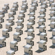 Beach chairs at Baltic Sea, Germany — Stock Photo #3375912