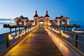 Pier with restaurant in Sellin, Baltic Sea, Germany — Stock Photo