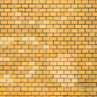 Ochre brick wall — Stock Photo