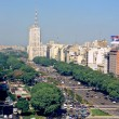 Avenue 9 de Julio in Buenos Aires - Stock Photo