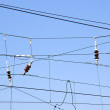 Overhead contact wires — Stock Photo #3535514