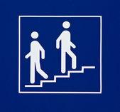 Bilgi işareti gösteren merdiven — Stok fotoğraf
