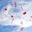 Royalty-Free Stock Photo: Red balloons flying to the sky