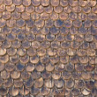 Wall of wooden shingles — Stock Photo