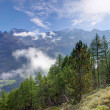 Beautiful morning in the Valais — Stock Photo