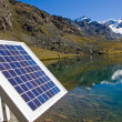 Solar technology in the alps — Stock Photo #3893371