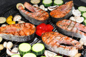 Fish barbeque — Stock Photo
