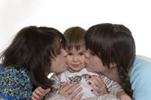 Kissing baby — Stock Photo