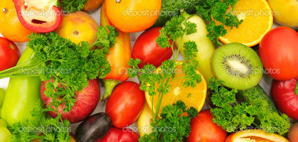Fresh fruits and vegetables � Stock Photo � Serg64 #2900460