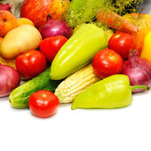 Collection fruits and vegetables — Stock Photo