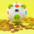 Stock Photo: PolkDot PIggy Bank