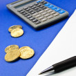 Calculate Money Costs — Stock Photo