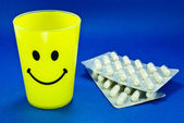 Smiley Face and Pills — Stock Photo