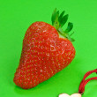 Stock Photo: Strawberry Heart Hugs and Kisses