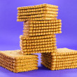 Wafer Cookie Stack — Stock Photo