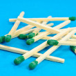 Pile of Stick Matches — Stock Photo