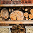 Royalty-Free Stock Photo: Bee Hive Logs