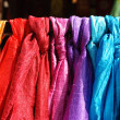 Colorful Scarves on Display — Stock Photo