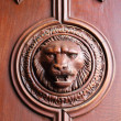 Lion Head Door Detail — Stock Photo