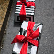 Stock Photo: Street Shop Gift Boxes