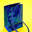 Stock Photo: Blue Shiny Gift Bag