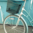 Stock Photo: Retro Bike and Basket